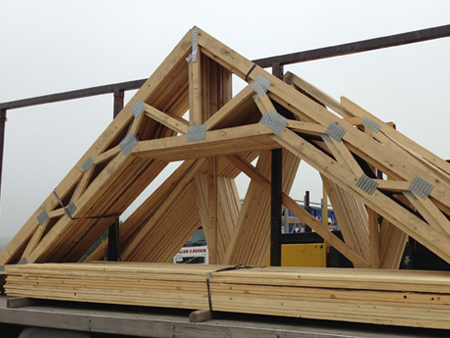 Home djr roof trusses ltd for Prefab gambrel roof trusses